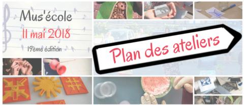 Mus'école 2018… plan des ateliers…