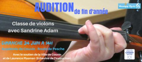 Audition des élèves de violon