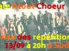 Reprise des répétitions pour Atout Choeur
